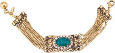 TVESHA Alloy Cubic Zirconia Yellow Gold Bracelet