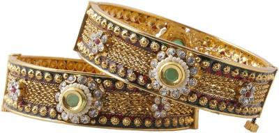 Aaina Home Decor Copper Yellow Gold Bangle Set