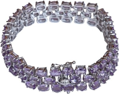 Dadu Diamonds Sterling Silver Tennis Bracelet
