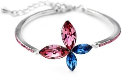 Prishi Impex Zinc Swarovski Crystal Platinum Bracelet