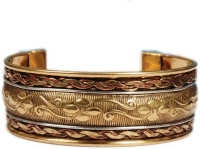 Gajraula Crafts Copper Yellow Gold Cuff