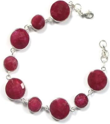 PeenZone Silver Ruby Sterling Silver Bracelet