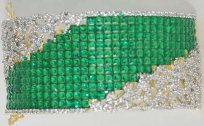 ZeneFashion Brass Rhodium Bracelet Set