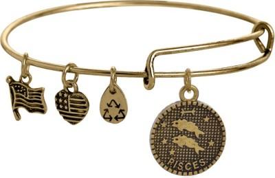 Karp Stainless Steel Rhodium Charm Bracelet