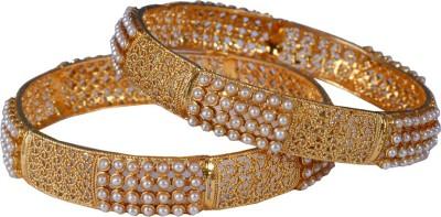 Paridhi Jewels Alloy Beads Yellow Gold Kada