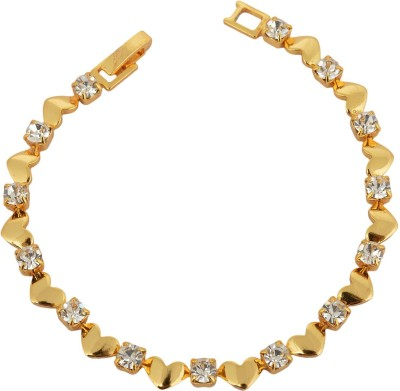 Memoir Brass Cubic Zirconia Yellow Gold Bracelet
