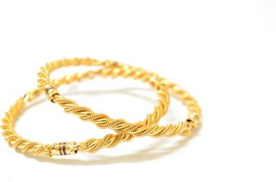 Udhayam Copper 14K White Gold Bangle