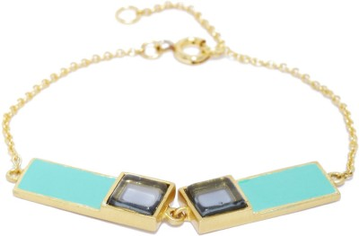 Dressberry Metal Beads Enamel Bracelet