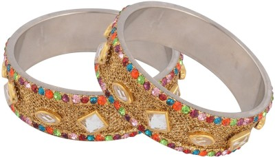 Johri Bazar Lac Yellow Gold Bangle Set