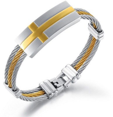 Montague Stainless Steel 18K Yellow Gold Bracelet