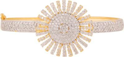 Swasti Jewels Metal Cubic Zirconia Yellow Gold Bracelet
