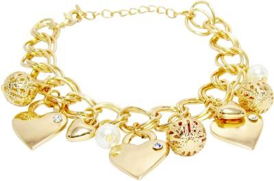 Jewelz Metal Yellow Gold Charm Bracelet at flipkart