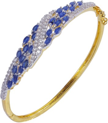 Muchmore Alloy Cubic Zirconia Yellow Gold Bracelet