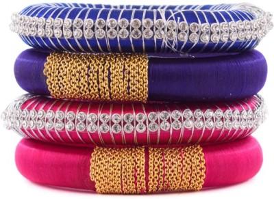 Kuhuk Plastic, Silk Dori Cubic Zirconia Bangle Set