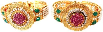 Achal Copper Crystal Copper Bracelet Set