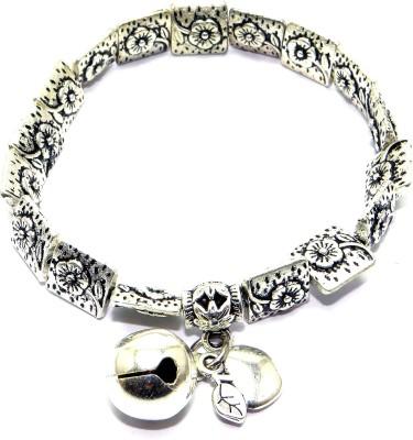 Sansar India Metal Charm Bracelet