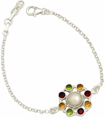 YugshaJewels Silver Pearl Bracelet