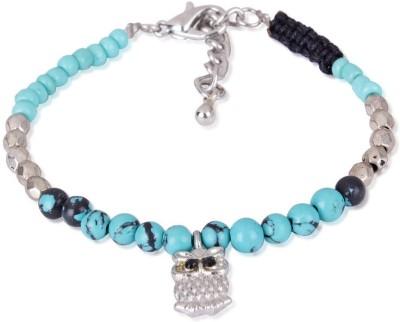 Trendy Baubles Metal, Acrylic Rhodium Charm Bracelet