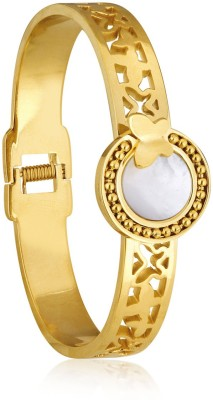 Spargz Brass Yellow Gold Kada