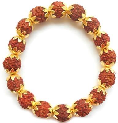 Herbal jewellery Alloy, Wood 22K Yellow Gold Bracelet