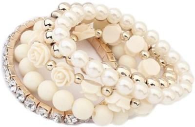 Amour Alloy Crystal Yellow Gold Bracelet Set