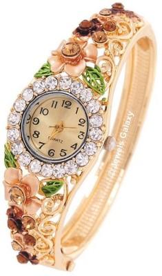 Jewels Galaxy Alloy Cubic Zirconia 24K Rose Gold Charm Bracelet at flipkart