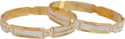 Vendee Fashion Brass Bangle Set(Pack of 2)