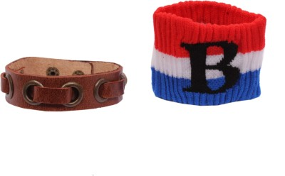 Sushito Leather, Fabric Armlet(Pack of 2)