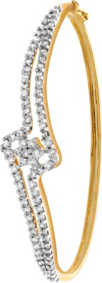 Alysa Copper, Brass Cubic Zirconia Yellow Gold, Rhodium Bracelet