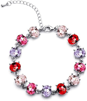Silver Shoppee Alloy Crystal Rhodium Bracelet