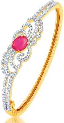 Sukkhi Alloy Cubic Zirconia Yellow Gold, Rhodium Bracelet