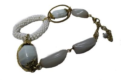 Trisha Alloy, Glass Yellow Gold Bracelet