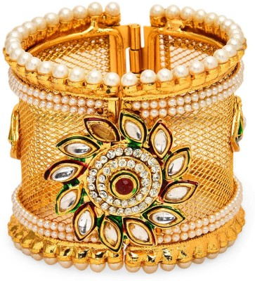 Prita Alloy Yellow Gold Cuff