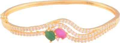 Ganapathy Gems Copper Cubic Zirconia Yellow Gold Bracelet