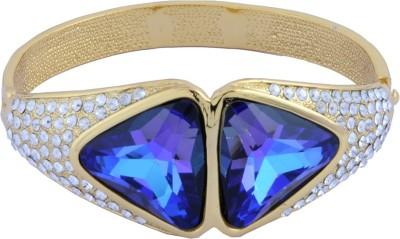 Trisha Alloy Swarovski Crystal 24K Yellow Gold Bracelet