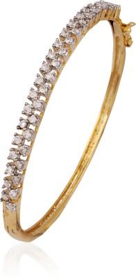 AccessHer Brass Cubic Zirconia Yellow Gold Bracelet