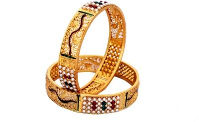 Ankur Brass Yellow Gold Bracelet Set