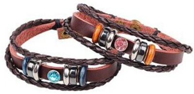 Young & Forever Alloy, Leather Bracelet Set