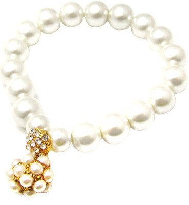 Young & Forever Alloy Pearl Charm Bracelet