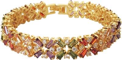 KooKoo Fashion Zinc Zircon 18K Yellow Gold Bracelet