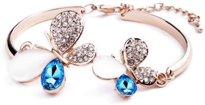 FASHIONFORSURE Alloy Swarovski Crystal, Opal 18K Yellow Gold Bracelet
