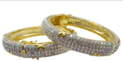 E-Designs Brass Cubic Zirconia Bracelet Set