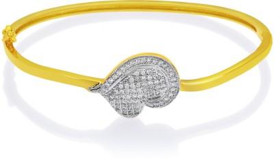 Mahi Brass, Alloy Cubic Zirconia Yellow Gold Bracelet