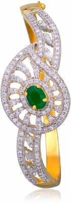 Alysa Alloy Cubic Zirconia Yellow Gold, Rhodium Bracelet