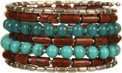 DCA Glass, Wood Rhodium Bracelet