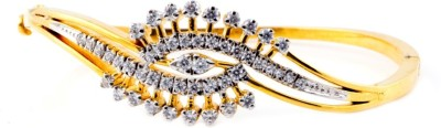 Shrungar Sterling Silver Cubic Zirconia 22K Yellow Gold Bracelet