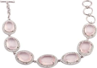 RR FOREVER Silver Quartz Rhodium Bracelet