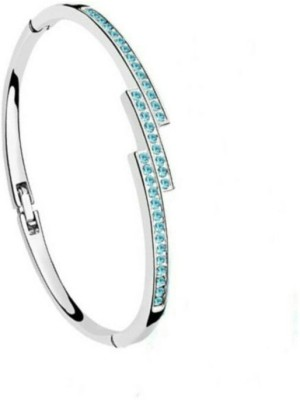 University Trendz Alloy Crystal Rhodium Charm Bracelet