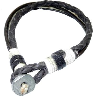 Pearls India Leather, Metal, Cotton Dori, Jute Bracelet