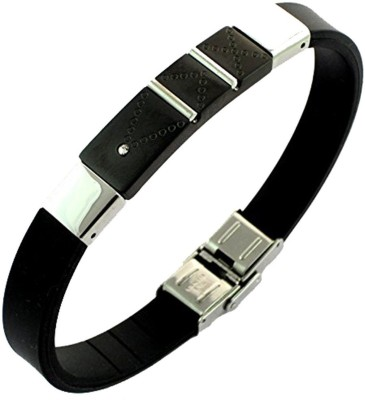 the jewelbox Stainless Steel Rhodium Bracelet